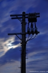 Electricity Post, Clouds, Moon