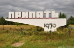 The Pripyat City Sign