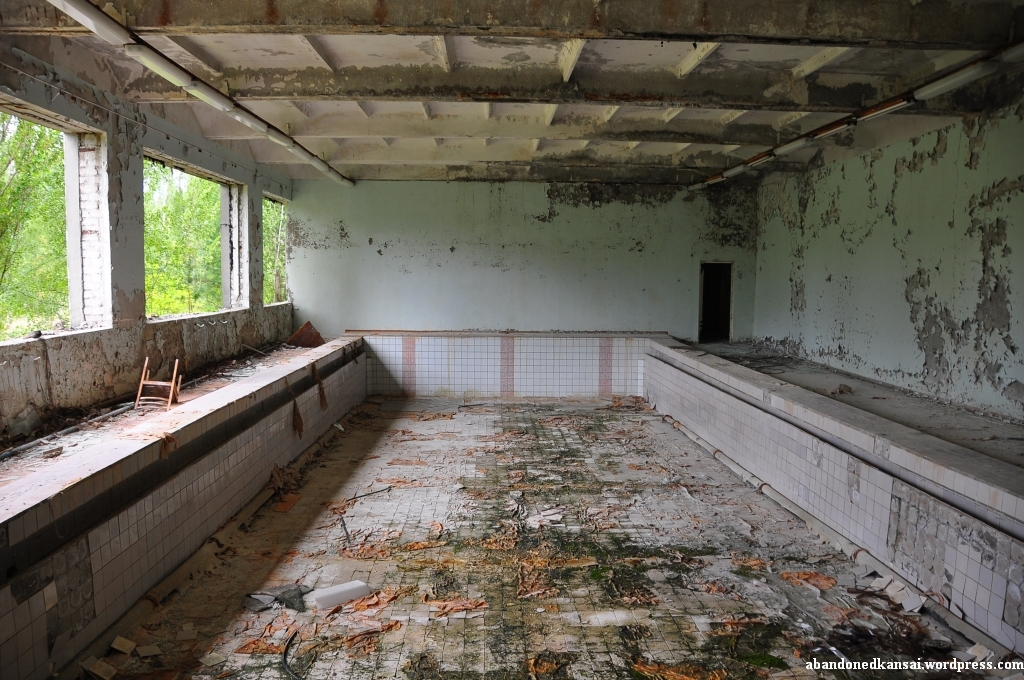 Zone of alienation pripyat the palace of culture for Disused swimming pools