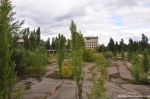 View From The First Floor At Pripyat's Lenin Square