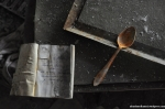 Rusty Spoon And Recipe Book