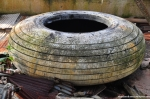 Abandoned Tire Of A B-29 Superfortress