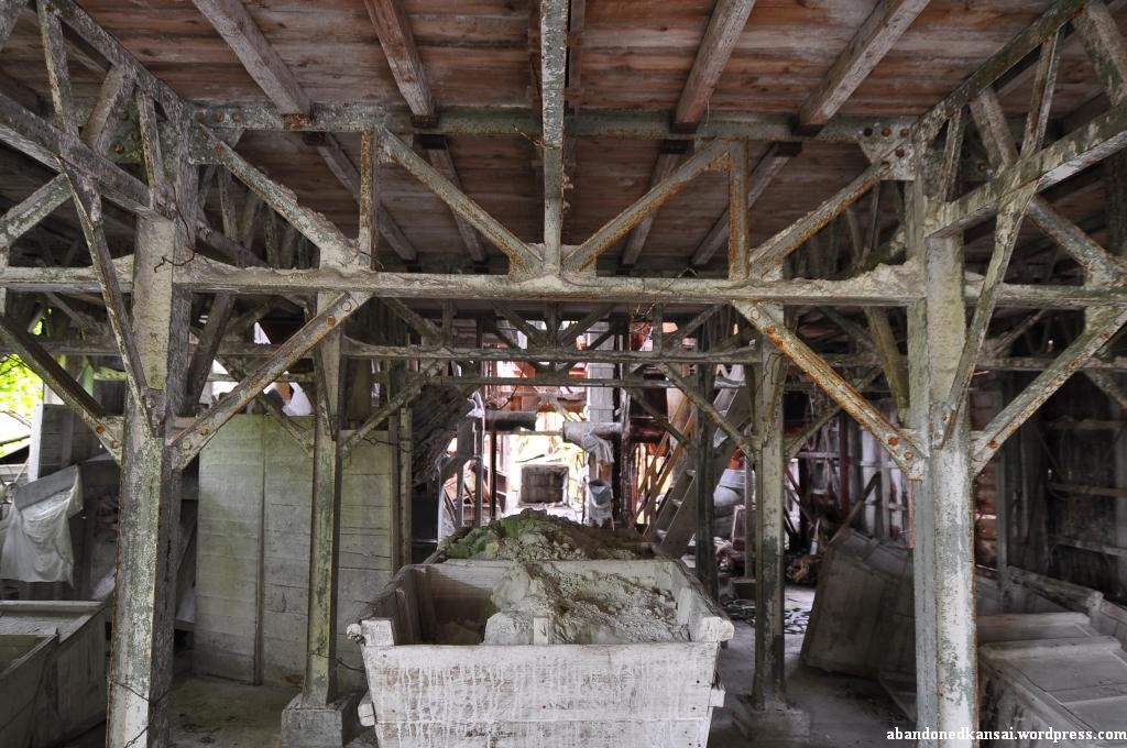 Wooden mine cart abandoned kansai