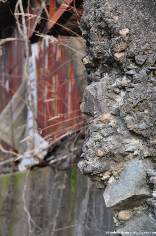 Collapsed Concrete Wall