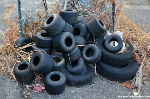 Pile Of Go-Kart Tyres