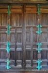 Copper-Bottomed Wooden Door