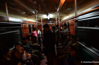Inside Pyongyang Subway Wagon