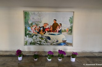 Kim Il-sung And Kim Jong-il Lobby Painting