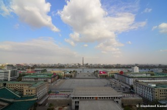 Kim Il-Sung Square From The Grand People's Study House