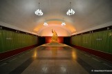 Kim Il-sung Statue At Pyongyang Subway Station Kaeson