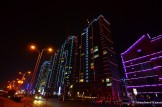 Dandong Apartment Buildings At Night
