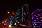 Dandong Apartment Buildings At Night