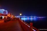 Dandong Waterfront At Night