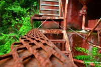 Red Metal Stairs