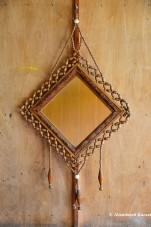 Artsy Wooden Mirror
