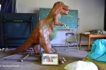 Papier-mâché Dinosaur