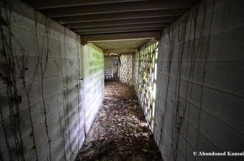 Spooky Outdoor Hallway