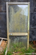 Grime-Stained Glass Door