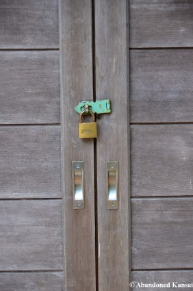 Japanese Door With A Padlock