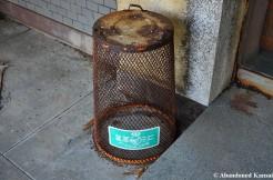 Rusty Wastebasket