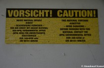 Abestos Warning Sign, Bilingual