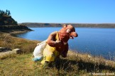 Bear Sculpture At Lake Mugye