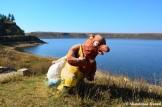 Bear Sculpture At Lake Mugye