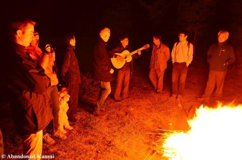 Bonfire In North Korea