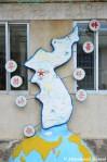 Map Of A United Korea, Sculpture At A Kindergarten In Rason, NorthKorea