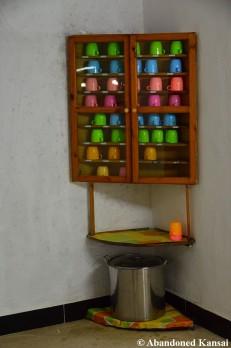 Mug Cabinet, Textile Factory, Rason, DPRK