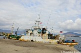 North Korean Ship At The Chinese Pier, Rason Harbor, DPRK