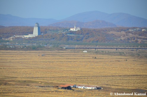Tower - China, Bridge - Russia, Fields - North Korea