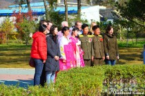 Wedding Party And Tourists In Rason, North Korea