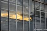 Greenhouse Sunset Reflection