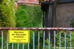 Betreten der Baustelle verboten! Eltern haften für ihreKinder!