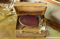 Abandoned Wooden Record Player