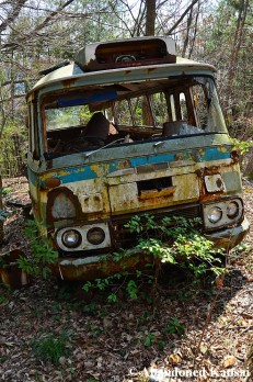 Destroyed Abandomed Bus