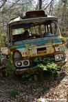 Destroyed Abandomed Bus