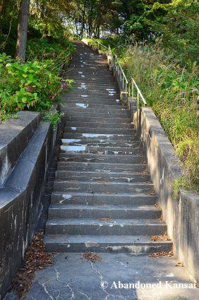 Concrete Staircase To Heaven