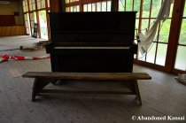 Abandoned Black Piano