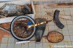 Abandoned Unicycle, Flipper & BadmintonRacket