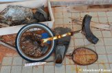 Abandoned Unicycle, Flipper & Badminton Racket