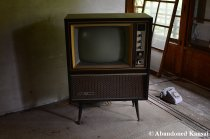 Old, Bulky Japanese TV