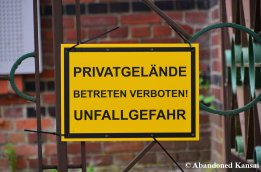 German Warning Sign