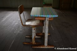 Old Japanese School Metal Chair And Table
