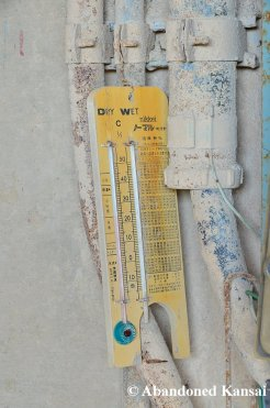 Abandoned Hygrometer And Thermometer