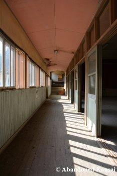 Abandoned Gymnasium Hallway