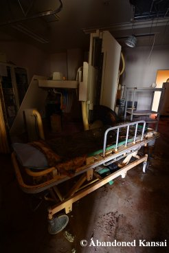 Abandoned CT Machine And Stretcher