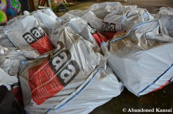 Huge Sacks Filled With Asbestos-Contaminated Material