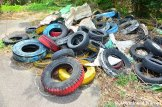 Abandoned Colored Tyres
